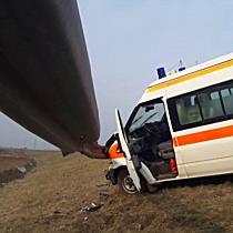 Szalagkorlát fogta meg a mentőt Miskolc határában - boon.hu