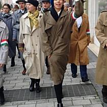 Màra esőt mondanak - flashmob okt.23, Miskolc