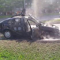 Autó égett az Avason II. - boon.hu